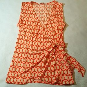 41 Hawthorn Tops - 41 Hawthorn Wrap Dress Tank Blouse Size Large